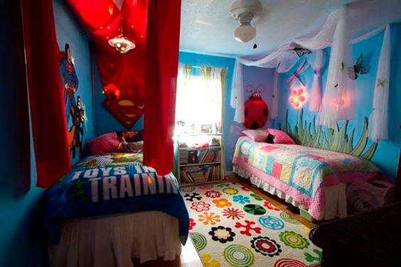 фото детской комнаты для мальчика и девочки 3