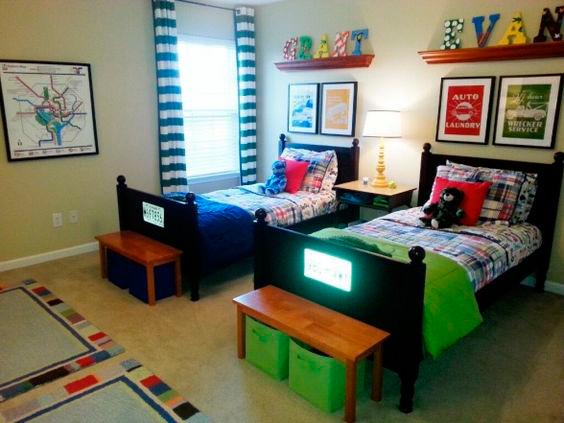 дизайн детской комнаты для двух разнополых детей с фото 7
