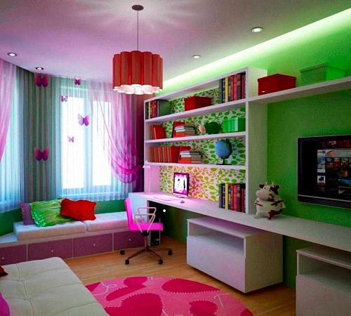 маленькая детская комната и гостинная