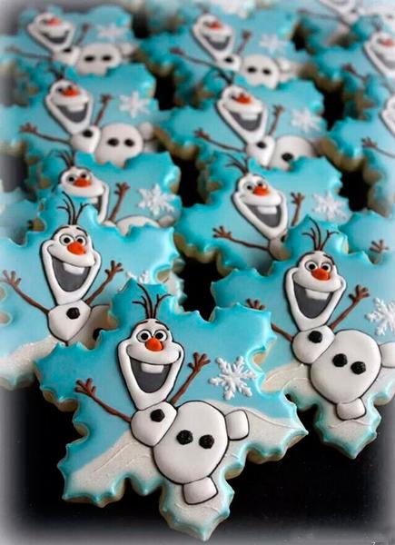 забавное новогоднее печенье