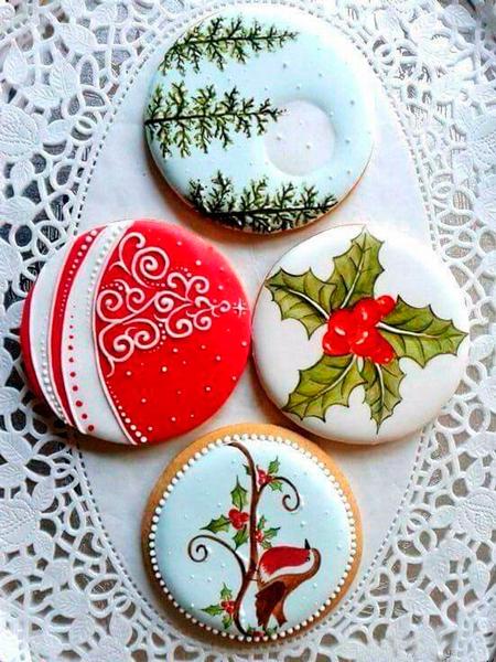 фото новогоднего печенья круглого