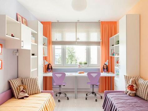 дизайн детской комнаты для двух разнополых детей с фото 6