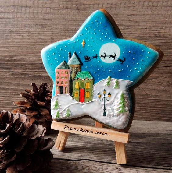 как украсить новогоднее печенье