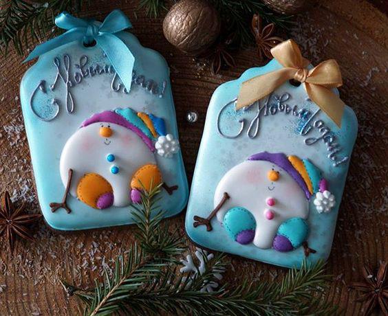 необычное новогоднее печенье