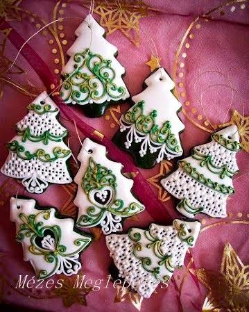 красивое новогоднее печенье