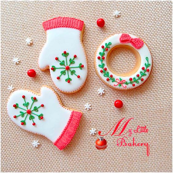 как нанести глазурь на печенья на новый год