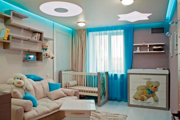 детская и гостинная в одной комнате 7