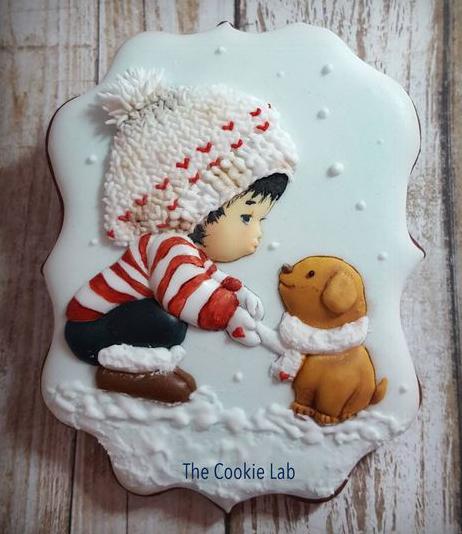 печенье открытка на новый год