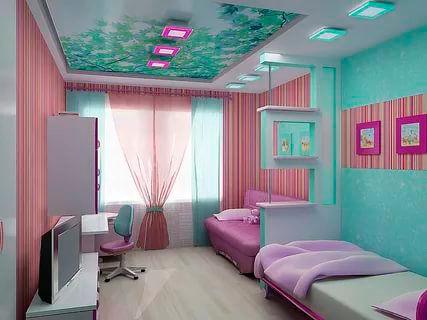 детская комната для двух разнополых детей 9