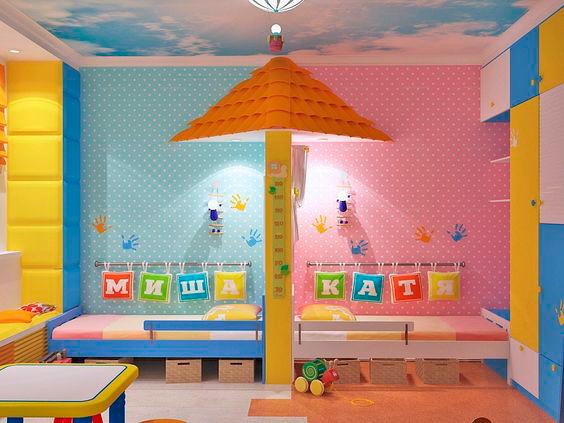 фото детской комнаты для мальчика и девочки 9