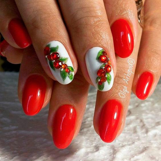 идеи красивого дизайна ногтей на новый год