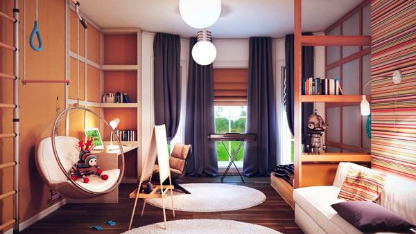 комната школьника и гостинная 2