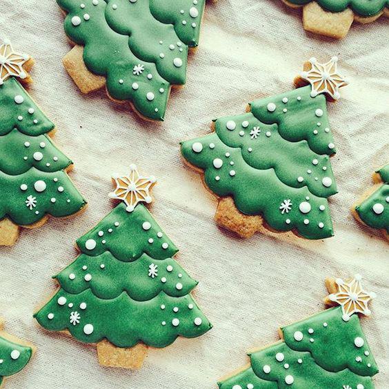 елочки: новогоднее печенье