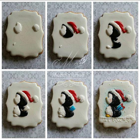 как украсить новогоднее печенье глазурью