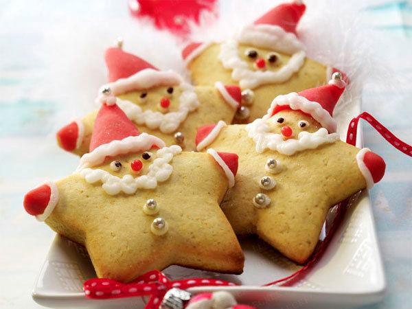 новогоднее печенье звезды