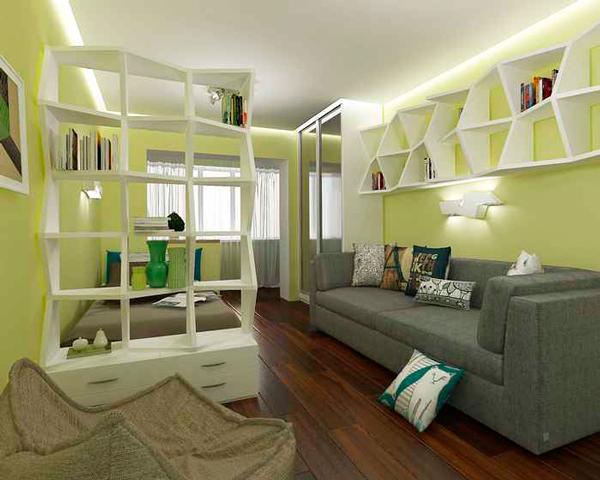 детская и гостинная в одной комнате 6