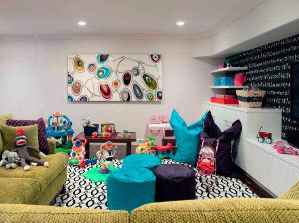 детская для детей от 1-6 лет и гостинная в одной комнате