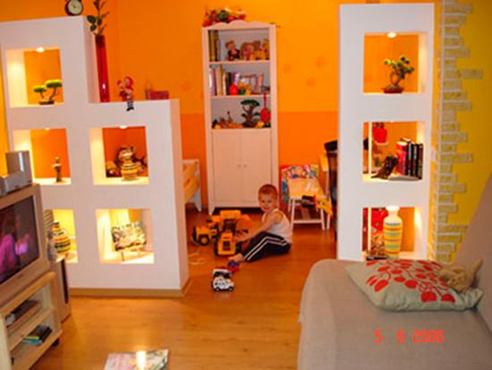 детская и гостинная в одной комнате