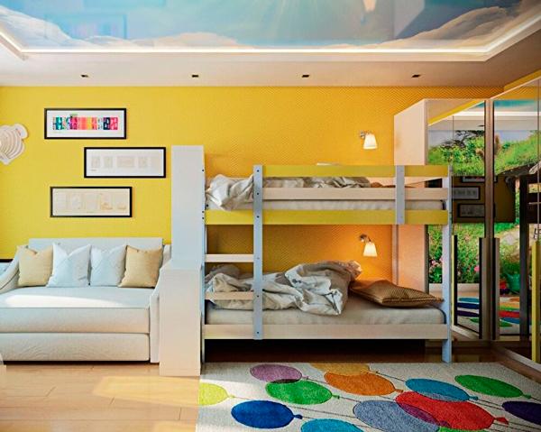детская и гостинная в одной комнате 5