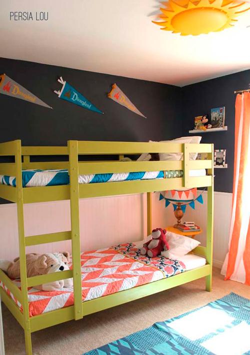 разделение комнаты на зоны для двух разнополых детей