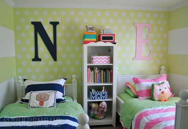 зонирование в комнате для двух разнополых детей