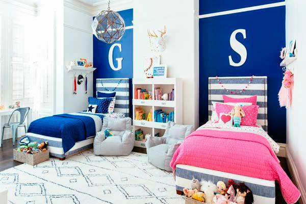 спальня и детская для двух детей
