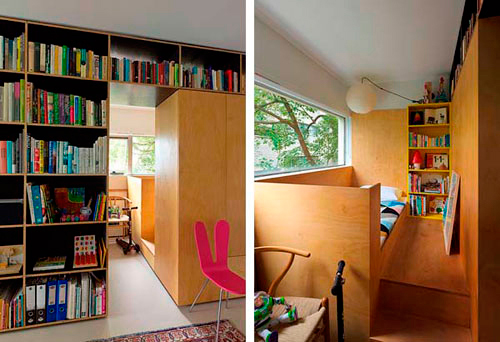 использование лоджии в качестве детской комнаты в гостинной