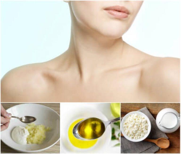 Уход за кожей шеи и декольте: маски и крема