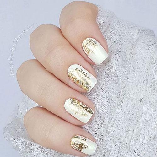 фото дизайна ногтей в белом цвете с рисунками 2