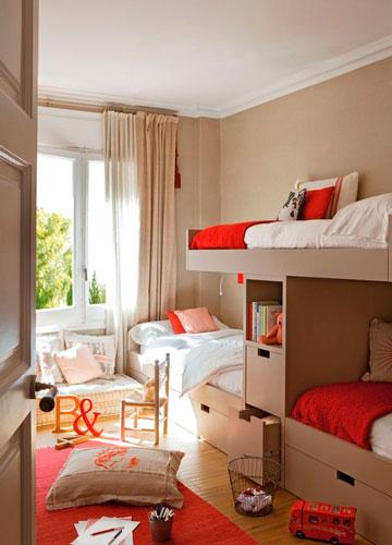 Бежевые комнаты для двух детей 8