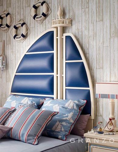 бежевая комната в морском стиле 3
