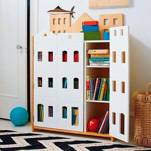 Как расставить мебель в детской комнате: хранение игрушек