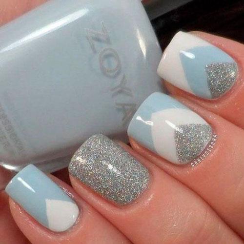 дизайн ногтей в белом цвете с рисунком 5