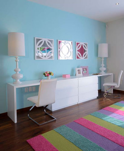 как интересно раставить мебель в детской комнате 3
