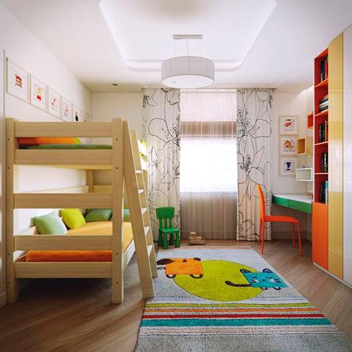 как интересно раставить мебель в детской комнате 6