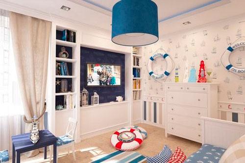 бежевая комната в морском стиле 2