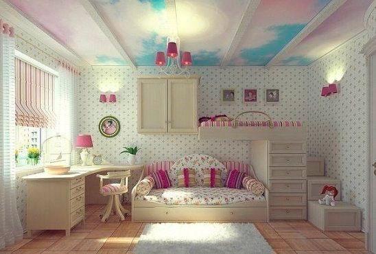 Бежевый цвет в интерьере детской комнаты 3