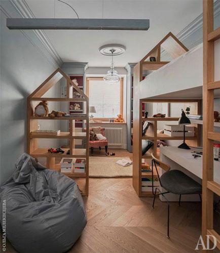 как интересно раставить мебель в детской комнате 7