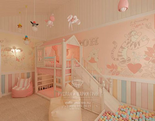 бежевая комната для девочек 2