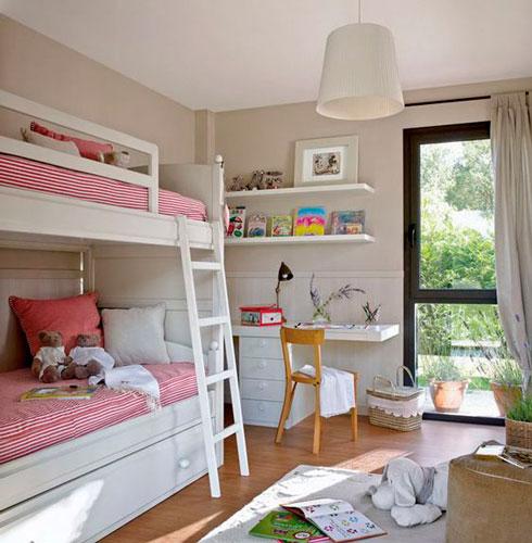 Бежевые комнаты для двух детей 5