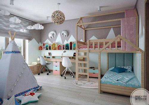 Бежевый цвет в интерьере детской комнаты 5