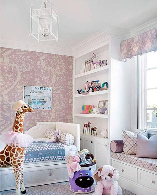 бежевая детская комната для маленькой девочки 6