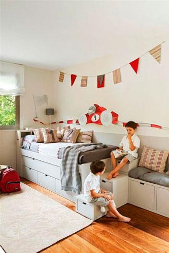 интерьер детской комнаты в бежевом цвете 20