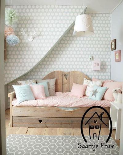 красивый интерьер детской комнаты в бежевом цвете 6