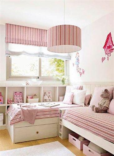 бежевая детская комната для маленькой девочки 2