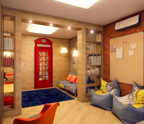 бежевая комната в английском стиле