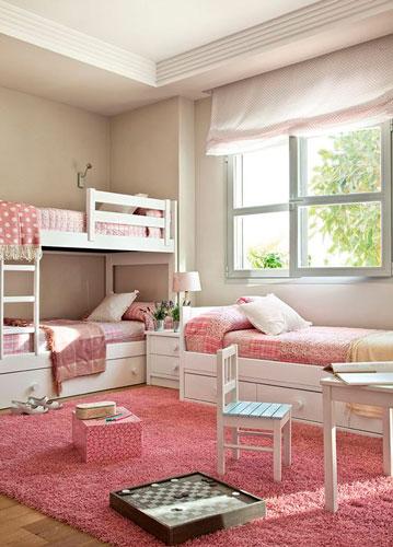 красивый интерьер детской комнаты в бежевом цвете 5
