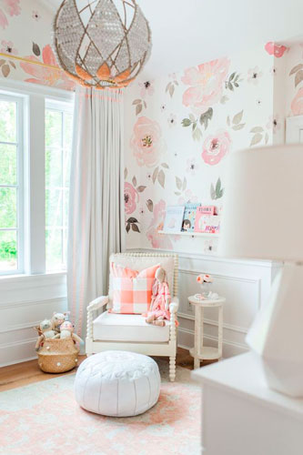 интерьер детской комнаты в бежевом цвете 18