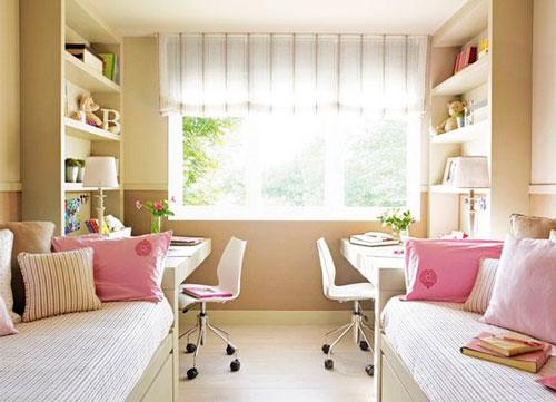 красивый интерьер детской комнаты в бежевом цвете 9