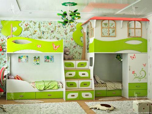 расположение мебели в комнате ребенка 2